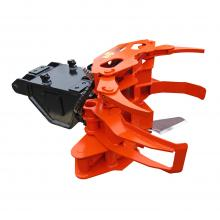 Biojack 300E felling grapple with ENTP10 quick coupling for excavator