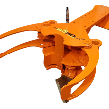 Biojack 160 energy wood grapple tree shear excavator