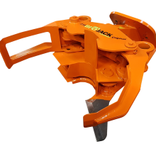 Biojack 230 BA45 (Back Attachment 45°) felling grapple for excavator