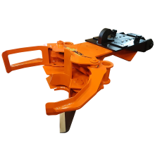 Biojack 230 felling grapple for excavator