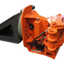 Biojack 400S saw grapple for excavators, incl TD IMO rotator