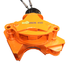 Grapple closed, Biojack 450 with CPR15 rotator